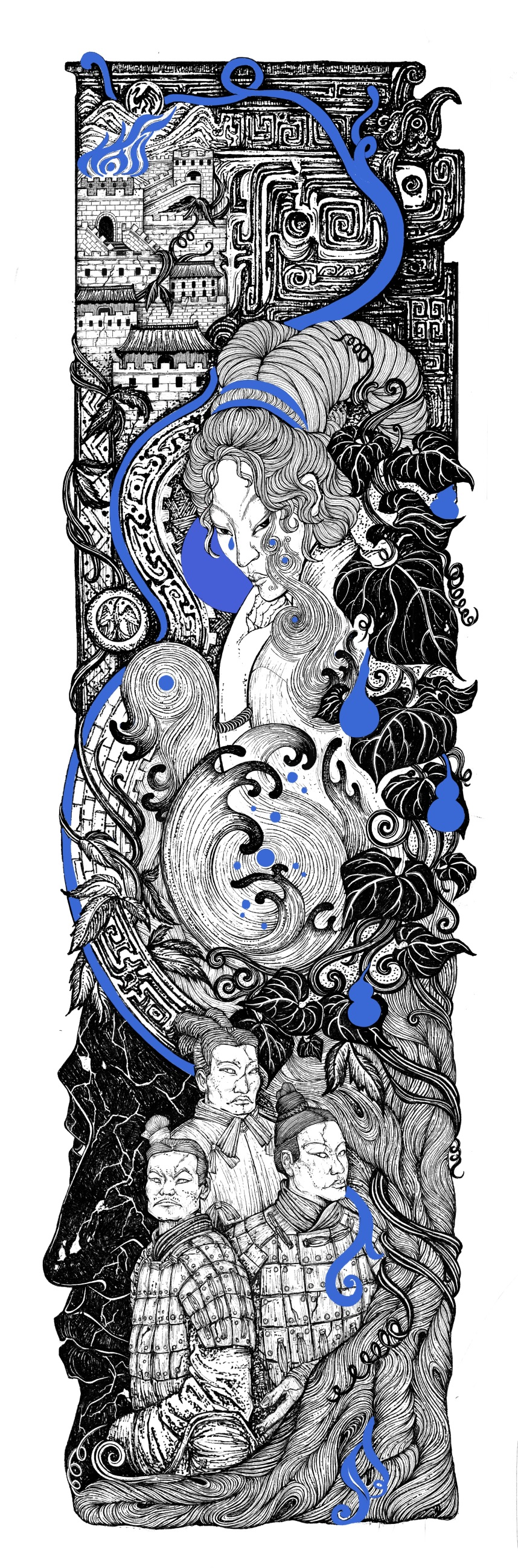 E:\2020国际大学生手绘艺术与设计大赛\参赛作品\手绘设计类\手绘设计类 首都师范大学--重述神话--潘若霓\b手绘设计--首都师范大学--重述神话--潘若霓\重述神话系列\重述神话 碧奴.jpg