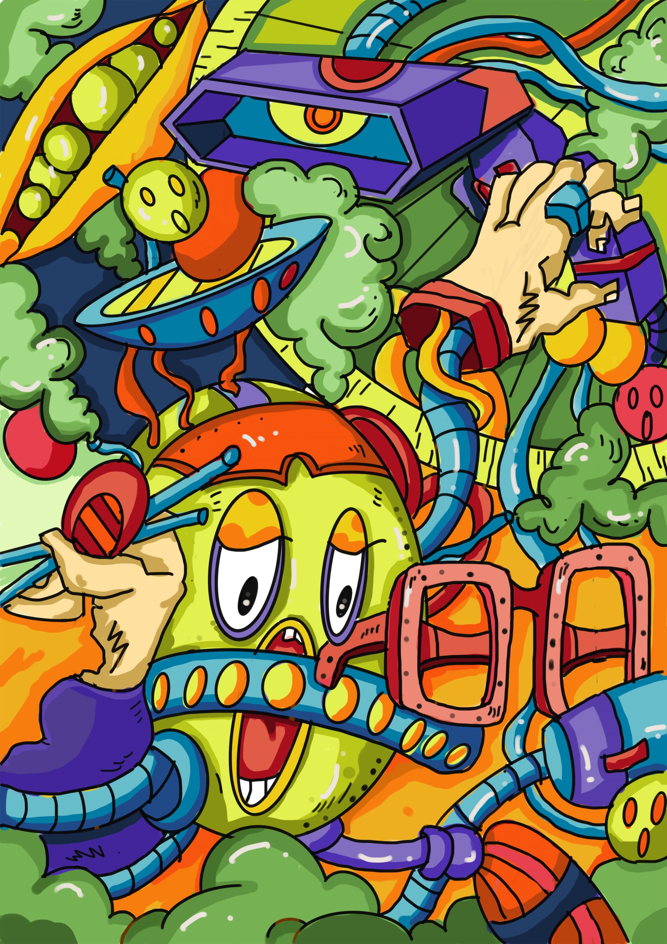 E:\2020国际大学生手绘艺术与设计大赛\参赛作品\手绘设计类\手绘设计类 南昌大学-谷物故事汇—如果粮食有情绪-胡青\参赛作品\一颗绿豆的惊讶.jpg